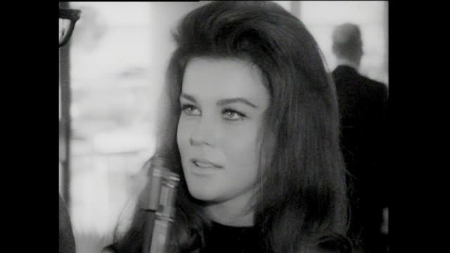 ann margret interview at lax airport ann margaret is on her way to a presidential inauguration where she will be participating in the presentation - ann margret stock videos & royalty-free footage