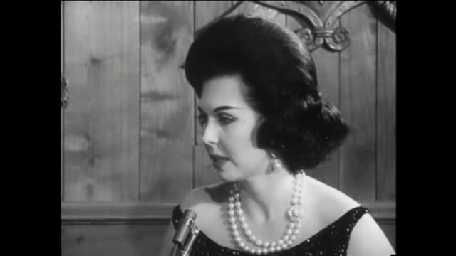 ann miller interview thank you very much it's great to be here i spend a lot of time in rehearsal halls well i married twice didn't work out decided... - face cream stock videos and b-roll footage