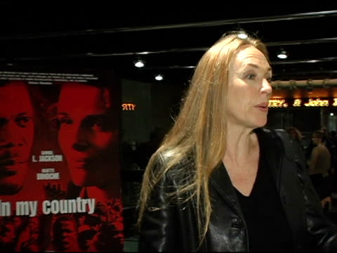 ann peacock, screenwriter at the 'in my country' premiere arrivals at pacific design center in west hollywood, california on march 3, 2005. - scriptwriter stock videos & royalty-free footage