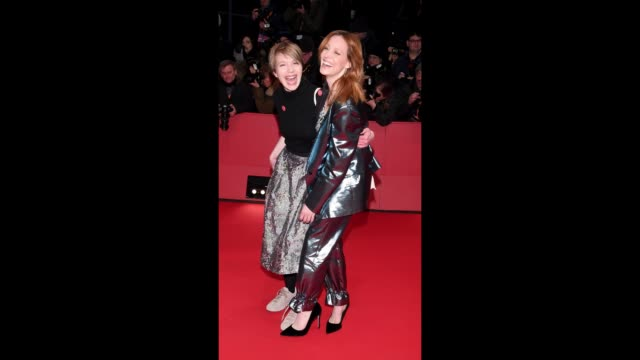 Anna Brueggemann and Lavinia Wilson attend the Opening Ceremony 'Isle of Dogs' premiere during the 68th Berlinale International Film Festival Berlin...