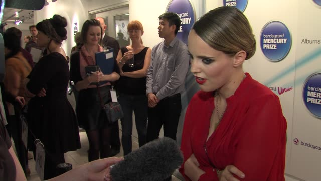 Anna Calvi at the Barclaycard Mercury Prize Nominations at London England