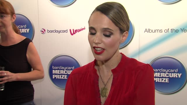 Anna Calvi on feeling rewarded album's an award celebrating album's and keeping them alive at the Barclaycard Mercury Prize Nominations at London...