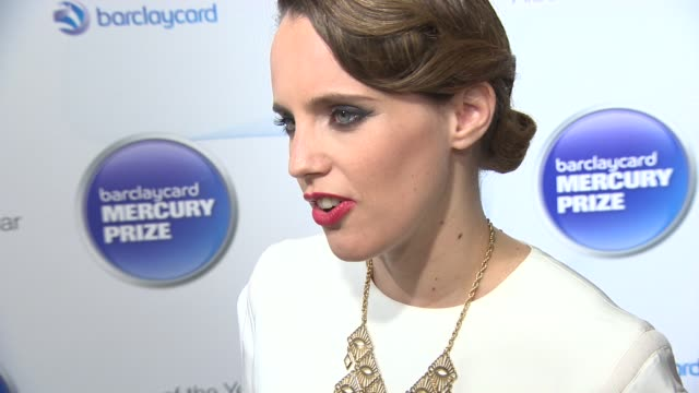 vídeos de stock, filmes e b-roll de interview anna calvi on getting bigger exposure and what her new album means to her at barclaycard mercury prize nominations announcement on... - calvi