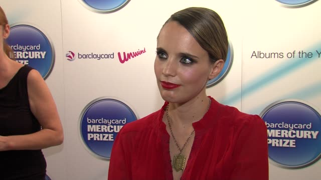 Anna Calvi on loving the new Elbow album at the Barclaycard Mercury Prize Nominations at London England