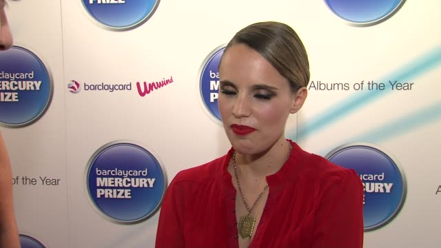 vídeos de stock, filmes e b-roll de anna calvi on taking her music to a new wider audience at the barclaycard mercury prize nominations at london england - calvi