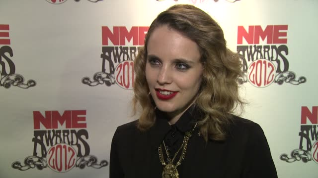 anna calvi on the evening british music the awards at nme awards 2012 reactions at brixton academy on february 29 2012 in london england - calvi stock videos and b-roll footage