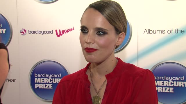 Anna Calvi on the positive response it not feeling like it's all happened quickly at the Barclaycard Mercury Prize Nominations at London England