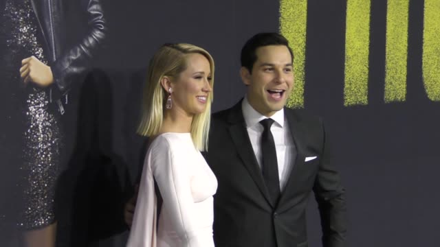 Anna Camp and Skylar Astin at the Premiere Of Universal Pictures' 'Pitch Perfect 3' on December 12 2017 in Hollywood California