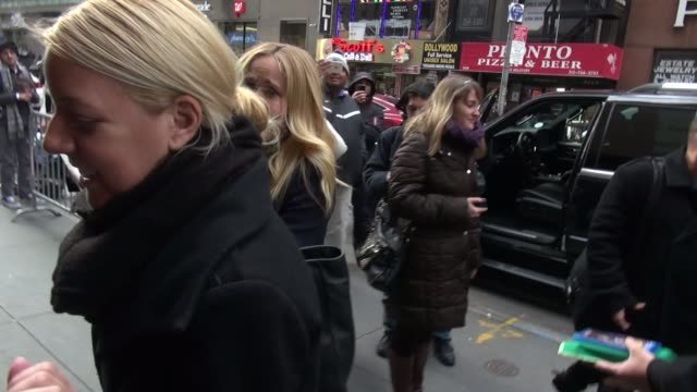 Anna Camp arrives at the TODAY show in Rockefeller Center leaving the TODAY show in Rockefeller Center and signs for fans at Celebrity Sightings in...