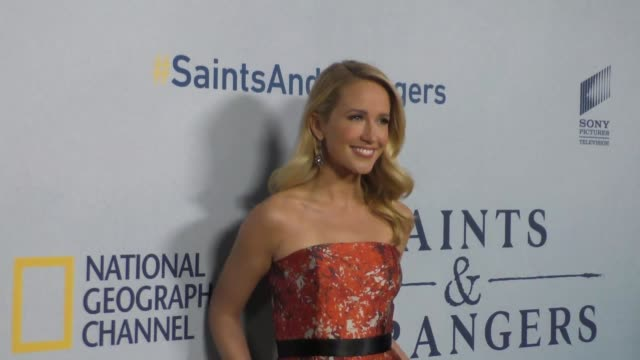 Anna Camp at the Premiere Of National Geographic Channel's Saints And Strangers at Saban Theatre in Beverly Hills in Celebrity Sightings in Los...