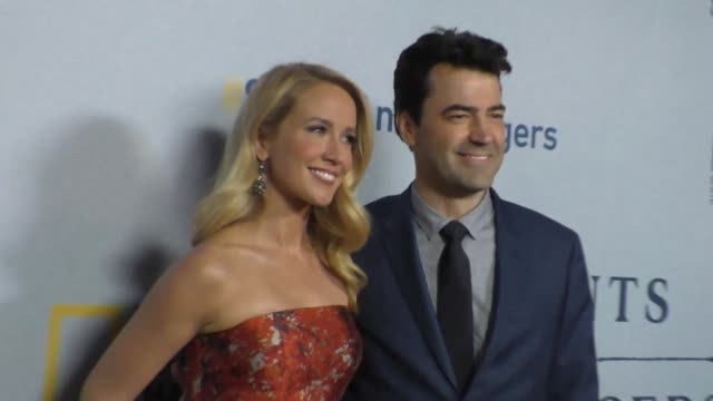 Anna Camp Ron Livingston at the Premiere Of National Geographic Channel's Saints And Strangers at Saban Theatre in Beverly Hills in Celebrity...