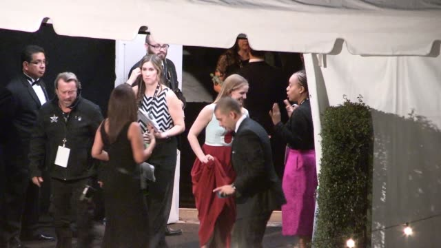anna chlumsky shaun so depart the sag awards after party at the shrine auditorium in los angeles celebrity sightings in los angeles ca on - shrine auditorium stock videos and b-roll footage