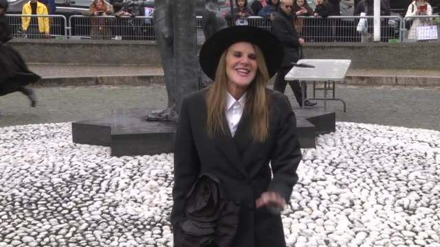 anna dello russo attends the miu miu show as part of the paris fashion week womenswear fall/winter 2019/2020 on march 5 2019 in paris france - teilnehmen stock-videos und b-roll-filmmaterial