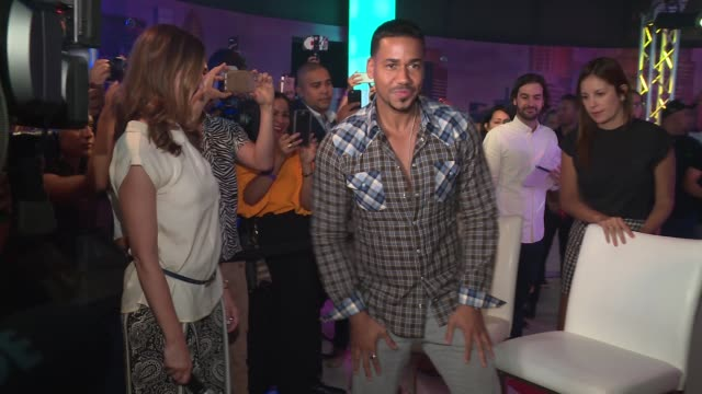 INTERVIEW Anna Domingo General Manager of Madame Tussauds New York asks Romeo Santos how it feels to unveil his wax figure today at Romeo Santos...