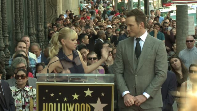 SPEECH Anna Faris at the Chris Pratt Honored With Star On The Hollywood Walk Of Fame at Hollywood Walk Of Fame on April 21 2017 in Hollywood...