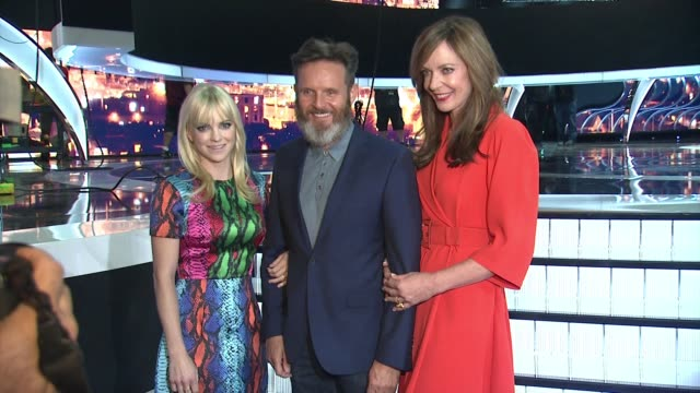 Anna Faris Mark Burnett Allison Janney at 41st Annual People's Choice Awards Press Day in Los Angeles CA
