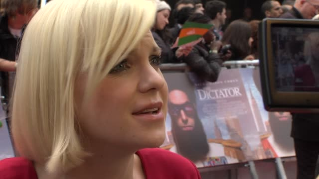 anna faris on being excited working with sacha baron cohen not having a beard but armpit hair at the dictator world premiere at the royal festival... - armpit stock videos and b-roll footage