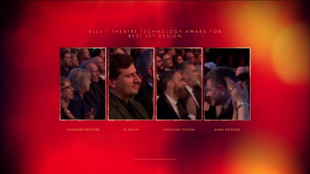 Anna Fleischle Hangman Best Set Design at The Olivier Awards with MasterCard at The Royal Opera House on April 04 2016 in London England