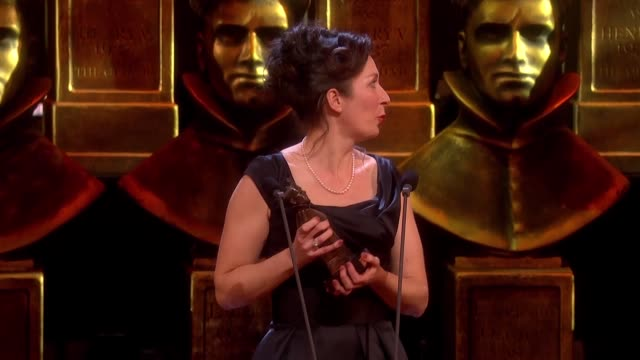 anna fleischle hangman best set design at the olivier awards with mastercard at the royal opera house on april 04 2016 in london england - hangman stock videos and b-roll footage