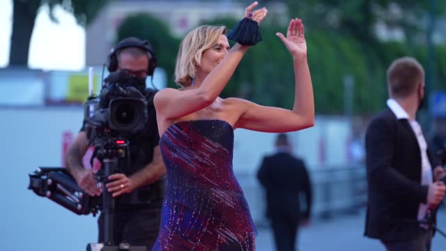 anna foglietta arrives on the red carpet ahead of the closing ceremony red carpet arrival at the 77th venice film festival on september 12, 2020 in... - film festival stock videos & royalty-free footage