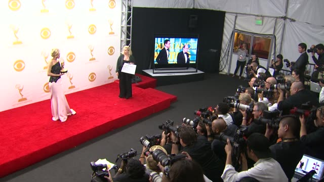 anna gunn at 65th annual primetime emmy awards - photo room on 9/22/2013 in los angeles, ca. - annual primetime emmy awards stock videos & royalty-free footage