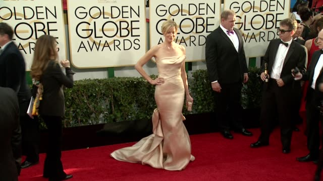 Anna Gunn at the 71st Annual Golden Globe Awards Arrivals at The Beverly Hilton Hotel on in Beverly Hills California
