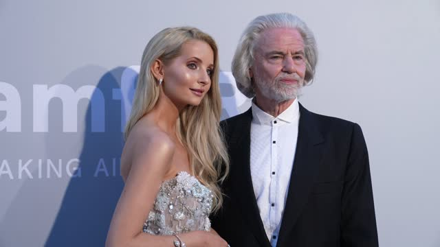anna hiltrop and hermann buhlbecker attend the amfar cannes gala 2021 at hotel villa eilenroc on july 16, 2021 in cap d'antibes, france. - gala stock videos & royalty-free footage