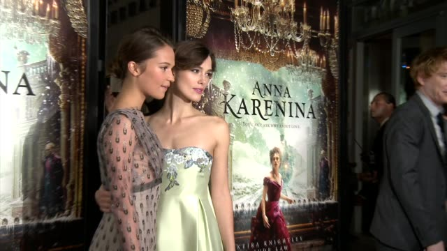 anna karenina premiere presented by focus features, los angeles, ca, united states, 11/14/12 - ジョーライト点の映像素材/bロール