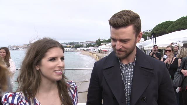 Anna Kendrick and Justin Timberlake on the Eurovision Song contest and Justin's song for the film 'Trolls' on May 11 2016 in Cannes France