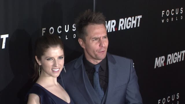 Anna Kendrick and Sam Rockwell at 'Mr Right' New York Premiere at AMC Lincoln Square Theater on April 06 2016 in New York City