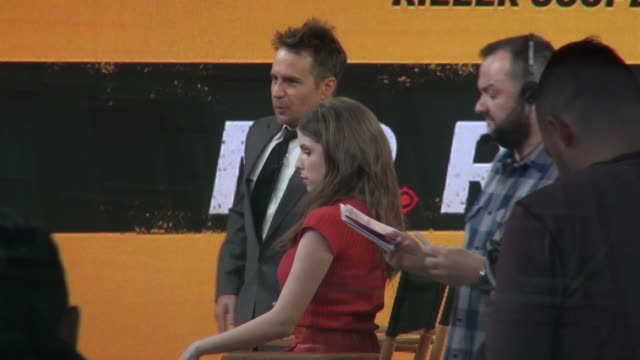 Anna Kendrick and Sam Rockwell on the 'Good Morning America' show on April 07 2016 in New York City