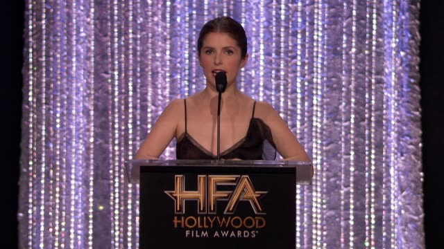 SPEECH Anna Kendrick at 20th Annual Hollywood Film Awards in Los Angeles CA