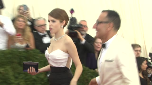 Anna Kendrick at 'Charles James Beyond Fashion' Costume Institute Gala Arrivals at The Metropolitan Museum on May 05 2014 in New York City