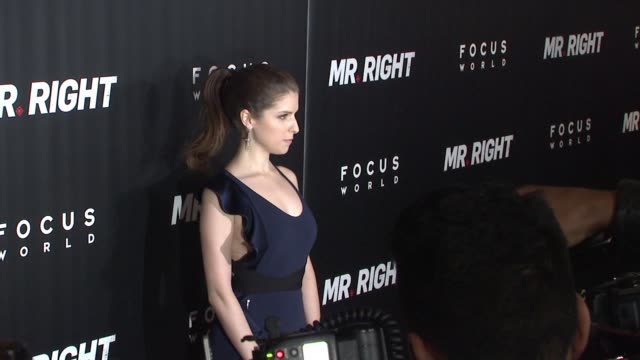 Anna Kendrick at 'Mr Right' New York Premiere at AMC Lincoln Square Theater on April 06 2016 in New York City