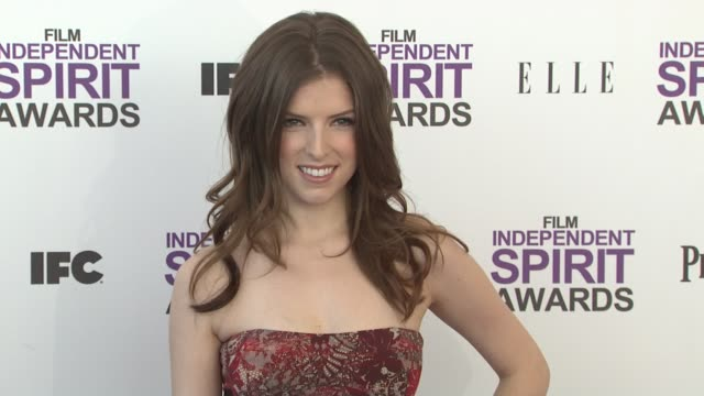 Anna Kendrick at the 2012 Film Independent Spirit Awards Arrivals on 2/25/12 in Santa Monica CA United States