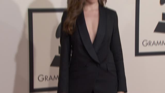 Anna Kendrick at The 57th Annual Grammy Awards Red Carpet at Staples Center on February 08 2015 in Los Angeles California