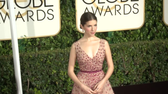 Anna Kendrick at the 72nd Annual Golden Globe Awards Arrivals at The Beverly Hilton Hotel on January 11 2015 in Beverly Hills California