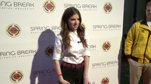 Anna Kendrick at the City Year Los Angeles Spring Break Destination Education at Sony Studios on April 28 2018 in Los Angeles California