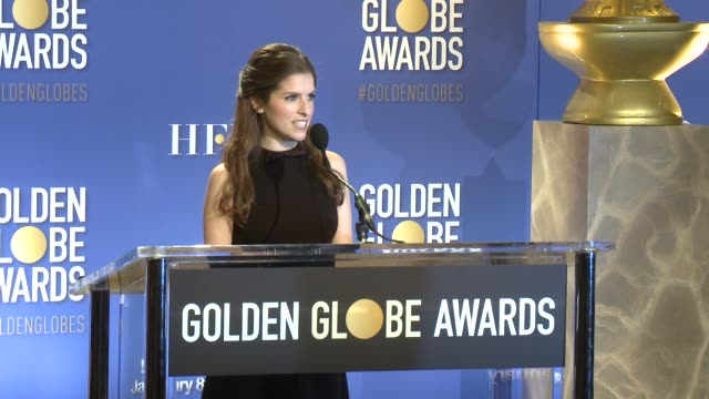 ANNOUNCEMENT Anna Kendrick at the Nominations Announcement For The 74th Annual Golden Globe Awards at The Beverly Hilton Hotel on December 12 2016 in...