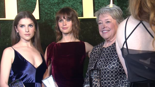 Anna Kendrick Felicity Jones and Kathy Bates at 23rd Annual Elle Women In Hollywood Celebration at Four Seasons Hotel Los Angeles at Beverly Hills on...
