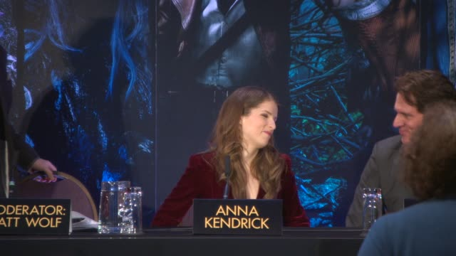 INTERVIEW Anna Kendrick James Corden Rob Marshall at 'Into The Woods' Press Conference on December 12 2014 in London England