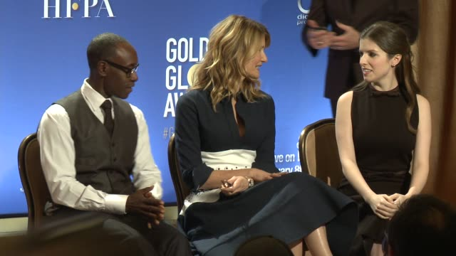 Anna Kendrick Laura Dern Don Cheadle at the Nominations Announcement For The 74th Annual Golden Globe Awards at The Beverly Hilton Hotel on December...