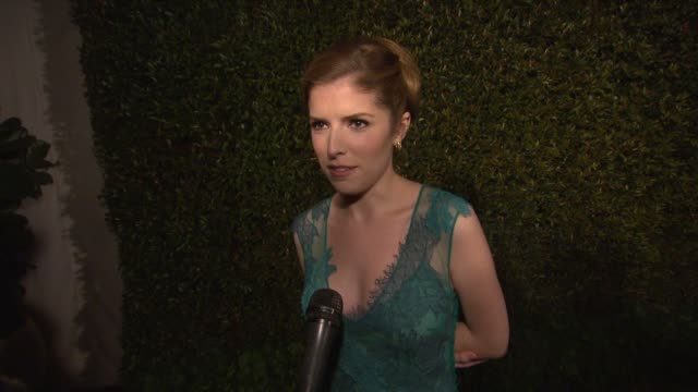 INTERVIEW Anna Kendrick on what brings her out what she loves about the collection her look for the night and her Oscar favorites at Alberta Ferretti...