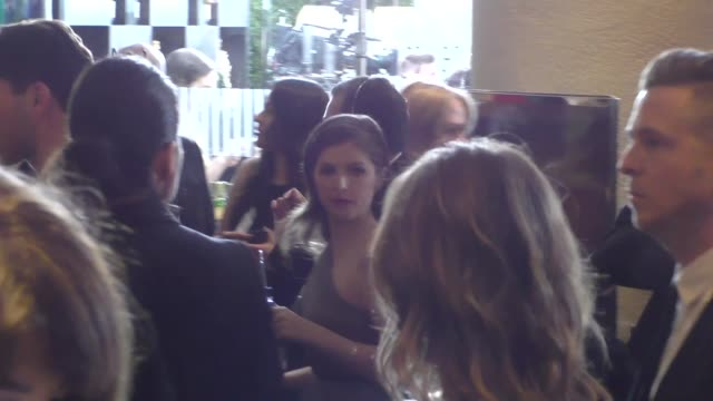 anna kendrick outside the golden globe awards at beverly hilton hotel in beverly hills in celebrity sightings in los angeles, - the beverly hilton hotel stock videos & royalty-free footage