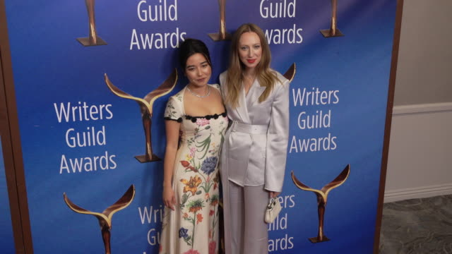 anna konkle and maya erskine at the 2020 writers guild awards at the beverly hilton hotel on february 01, 2020 in beverly hills, california. - the beverly hilton hotel stock videos & royalty-free footage