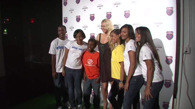 Anna Kournikova and Madison Boys and Girls Club at the KSwiss Kicks Off Open Week Fever With 'Play Nice' Runway Show Party at New York NY
