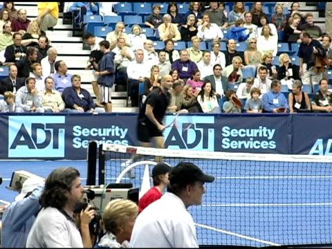 anna kournikova at the 12th annual world team tennis smash hits benefiting the elton john aids foundation at bren events center in irvine california... - anna kournikova stock-videos und b-roll-filmmaterial