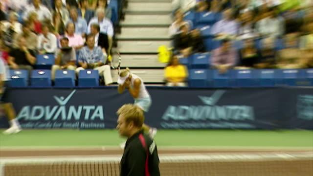 anna kournikova at the advanta presents wtt smash hits celebrity tennis tournament at bren center university of irvine in irvine, california on... - anna kournikova stock videos & royalty-free footage