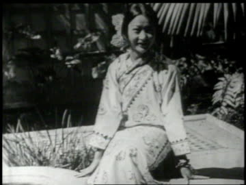 anna may wong in a garden - 1926 stock videos & royalty-free footage