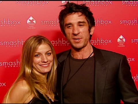 anna mitchell and davis factor at the smashbox cosmetics celebration of the holidays and brent bolthouseæs birthday at covenant house california in... - 証書点の映像素材/bロール